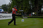 Paul Casey tees off on the opening hole during the final round of the BMW PGA Championship at Wentworth Club, Surrey, England 27th May 2007 (Photo by Eoin Clarke/NEWSFILE)