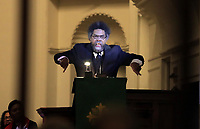 Dr. Cornel West was the featured speaker during a Mass Prayer Service Friday at St. Paul's Memorial in Charlottesville, Va. Photo/Andrew Shurtleff