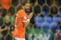 Blackpool's Liam Feeney rues a missed opportunity<br /> <br /> Photographer Kevin Barnes/CameraSport<br /> <br /> The EFL Sky Bet League One - Bolton Wanderers v Blackpool - Monday 7th October 2019 - University of Bolton Stadium - Bolton<br /> <br /> World Copyright © 2019 CameraSport. All rights reserved. 43 Linden Ave. Countesthorpe. Leicester. England. LE8 5PG - Tel: +44 (0) 116 277 4147 - admin@camerasport.com - www.camerasport.com