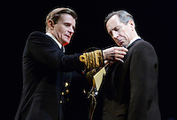 London - Charles Edwards and Jonathan Hyde -  'The King's Speech' photocall at Wyndham's Theatre, London - March 26th 2012..Photo by Jane Burrows.