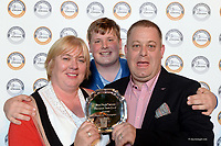 Liam, Niamh and Niall Quinlan from Cahersiveen, County Kerry, proprietor of Quinlan's Kerry Fish who won the Supreme Champion Award at the annual Blas na hEireann / Irish Food Awards at the Dingle Food Festival at the weekend. <br /> Photo Don MacMonagle.<br /> <br /> further info: Sue james Sue James PR<br /> +353 857336981 <br /> <br /> <br /> &copy; Photo by Don MacMonagle - macmonagle.com<br /> info@macmonagle.com