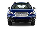 Car photography straight front view of a 2015 Subaru Outback 2.5i CVT 4 Door Wagon Front View