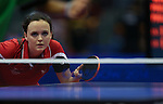 Glasgow 2014 Commonwealth Games<br /> Angahard Phillips in action in the doubles against Vanuatu.<br /> Scotstoun Table Tennis<br /> <br /> 25.07.14<br /> ©Steve Pope-SPORTINGWALES