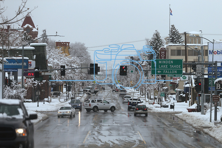 A snowstorm moves through Carson City, Nev., on Friday, March 16, 2018. <br /> Photo by Cathleen Allison/Nevada Momentum