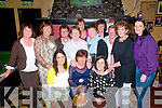 Birthday Party : Kay Hayes, Killocrim Listowel celebrating herbirthday with family & friend at McCarthy's Bar, Finuge on Friday night last.Front : Laura Horgan, Kay Hayes & Eleanor Cronin. Back: Lucy Guiney, Nuala Horgan, Anne Marie O'Sullivan, Hellie horgan, Anne Fitzpatrick, Mary Barry, Breda McVeigh, Josephine Stack, Breda Dowling & Bridget Liston.