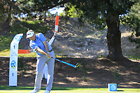 Ken Duke (USA) tees off the 1st tee during Thursday's Round 1 of the 2018 AT&amp;T Pebble Beach Pro-Am, held over 3 courses Pebble Beach, Spyglass Hill and Monterey, California, USA. 8th February 2018.<br /> Picture: Eoin Clarke | Golffile<br /> <br /> <br /> All photos usage must carry mandatory copyright credit (&copy; Golffile | Eoin Clarke)