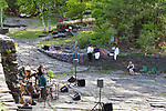 Members of Mamalama in performance at the Opus 40 Sculpture Park on Fite Road, in Saugerties, NY on Sunday May 21, 2017. Photos by jim Peppler. Copyright Jim Peppler/2017.