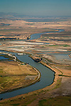 Aerial over the Montezuma Slough, Solano County, California