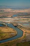 Aerial over the Montezuma Slough, Solano County, California