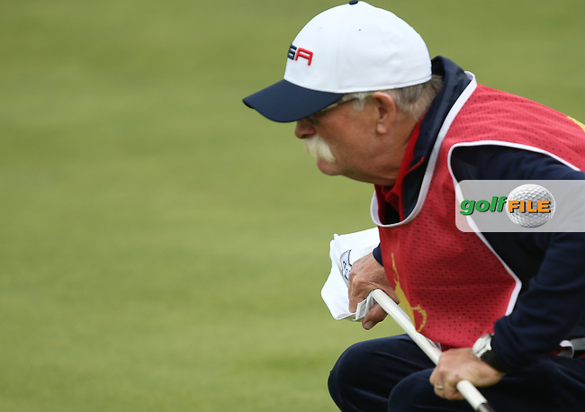 Fluff during Sunday's Singles at the 2014 Ryder Cup from Gleneagles, Perthshire, Scotland. Picture:  David Lloyd / www.golffile.ie