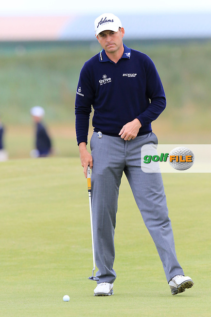 David HOWELL (ENG) on the 15th green during the first round of the 144th Open Championship, St Andrews Old Course, St Andrews, Fife, Scotland. 16/07/2015.<br /> Picture Eoin Clarke, www.golffile.ie