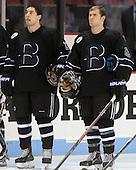 Jared Rickord (Bentley - 27), Brett Gensler (Bentley - 26) - The visiting Bentley University Falcons defeated the Boston University Terriers 4-1 (EN) on Saturday, December 14, 2013, at Agganis Arena in Boston, Massachusetts.