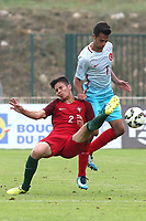 Francisco Moura of Portugal U19's and Turkey U21's Baris Alici challenge for the ball during Portugal Under-19 vs Turkey Under-21, Tournoi Maurice Revello Football at Stade Parsemain on 3rd June 2018