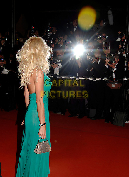 "VICTORIA SILVSTEDT. ""X-Men 3: The Last Stand"" screening.59th International Cannes Film Festival, France.22nd May 2006.Ref: PL.full length x men back rear behind green dress.www.capitalpictures.com.sales@capitalpictures.com.©Phil Loftus/Capital Pictures"