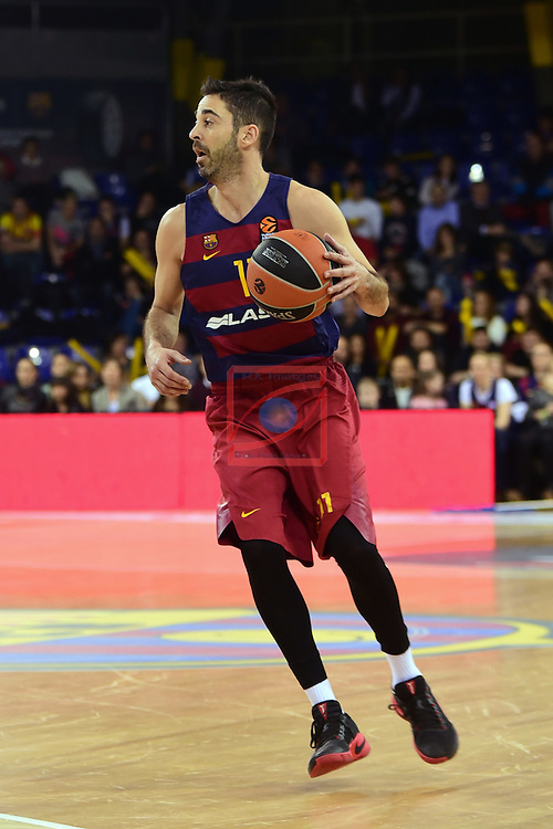 Turkish Airlines Euroleague 2016/2017.<br /> Regular Season - Round 22.<br /> FC Barcelona Lassa vs Galatasaray Odeabank Istanbul: 62-69.<br /> Juan Carlos Navarro.