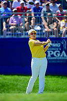 Jiyai Shin (KOR) watches her tee shot on 1 during Sunday's final round of the 2017 KPMG Women's PGA Championship, at Olympia Fields Country Club, Olympia Fields, Illinois. 7/2/2017.<br /> Picture: Golffile   Ken Murray<br /> <br /> <br /> All photo usage must carry mandatory copyright credit (&copy; Golffile   Ken Murray)