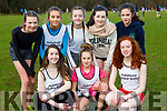 PS Inbhear Sceine athletes at the Kerry Schools Cross Country championships in Killarney on Friday l-r: Kate Murphy, Emilia Antolak, Muireann de Faoite. Back row: Cliona  Daly, Grace Roberts White, Kiera O'Leary, Clara McElligott, and Eabha de Faoite