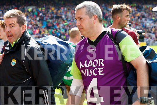 Eddie Walsh and Niall O'Callaghan Kerry backroom team after the All Ireland Senior Football Quarter Final with Galway at Croke Park on Sunday.