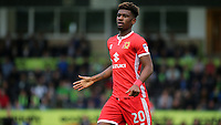 Aaron Tshibola of MK Dons during Forest Green Rovers vs MK Dons, Caraboa Cup Football at The New Lawn on 8th August 2017