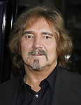 """Musician Geezer Butler of Black Sabbath arrives to the """"Iron Man"""" premiere at Grauman's Chinese Theatre on April 30, 2008 in Hollywood, California."""