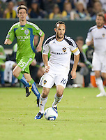 CARSON, CA – NOVEMBER 7:  LA Galaxy midfielder Landon Donovan (10) during a soccer match at the Home Depot Center, November 7, 2010 in Carson, California. Final score LA Galaxy 2, Seattle Sounders 1.