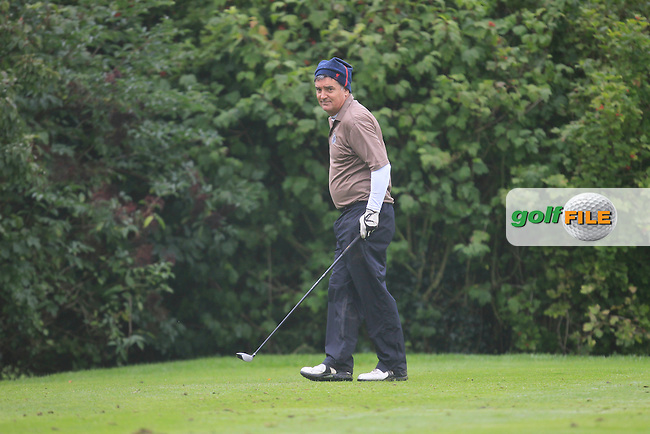 Dave O'Shaugnessy (Corrstown) on the 11th tee during Practice day for the AIG Cups &amp; Shields Finals in Royal Tara Golf Club on Tuesday 17th September 2013.<br /> Picture:  Thos Caffrey / www.golffile.ie