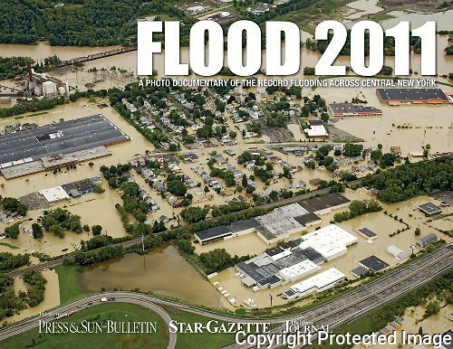 In 2012, the Binghamton Press & Sun-Bulletin newspaper published this book about the historic 2011 flooding, featuring photos by their one staff photographer and me.