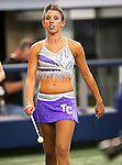 TCU baton twirler before the game between the Oregon State Beavers and the TCU Horned Frogs at the Cowboy Stadium in Arlington,Texas. TCU defeated Oregon State 30-21.