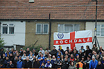 Barnet 1 Rochdale 0, 08/05/2010. Underhill Stadium, League 2. The final game of the season at Underhill. The Bees must beat Rochdale to guarantee their survival. Rochdale are celebrating promotion to League one. Rochdale supporters. Photo by Simon Gill.