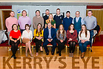 Kerry Macra Titles Night in the Avenue Hotel, Killarney last Friday night. Pictured are all contestants, National Macra President James Healy (Centre Front) and current Blue Jeans Country Queen Alisson O'Connor (Centre Back).