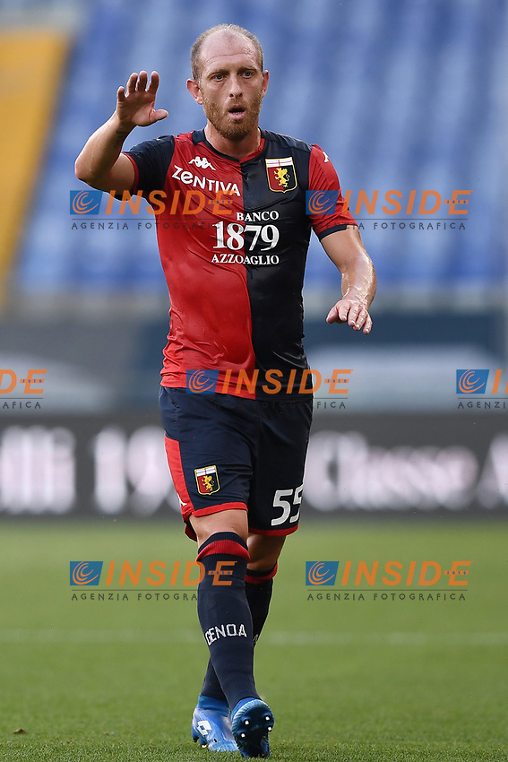 Andrea Masiello of Geoa CFC during the Serie A football match between Genoa CFC and SSC Napoli stadio Marassi in Genova ( Italy ), July 08th, 2020. Play resumes behind closed doors following the outbreak of the coronavirus disease. <br /> Photo Matteo Gribaudi / Image / Insidefoto