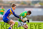 Chris Farley South Kerry in Action against Dara O'Shea Kenmare in the County Senior Football Semi Final at Fitzgerald Stadium Killarney on Sunday.