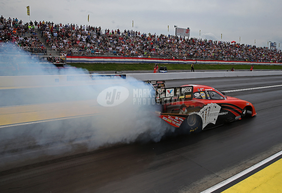May 11, 2013; Commerce, GA, USA: NHRA funny car driver Johnny Gray during the Southern Nationals at Atlanta Dragway. Mandatory Credit: Mark J. Rebilas-