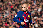 Andres Iniesta of FC Barcelona during the La Liga 2017-18 match between FC Barcelona and RC Celta de Vigo at Camp Nou Stadium on 02 December 2017 in Barcelona, Spain. Photo by Vicens Gimenez / Power Sport Images