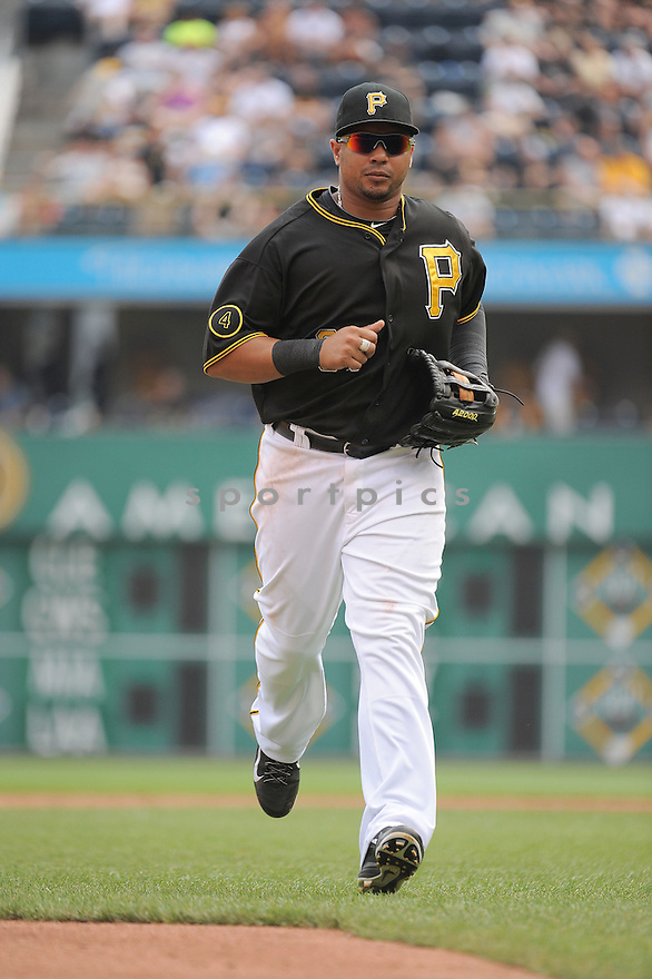 Pittsburgh Pirates Jose Tabata (31) during a game against the St. Louis Cardinals on August 27, 2014 at PNC Park in Pittsburgh PA. The Pirates beat the Cardinals 3-1.