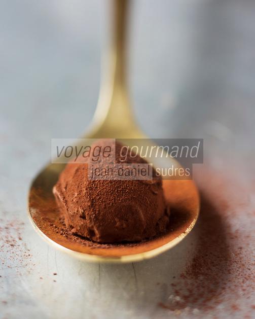 Europe/France/Ile-de-France/75/Paris:  Chocolats et Ganaches - Truffes de La Maison du Chocolat - Robert Linxe - Stylisme : Valérie LHOMME
