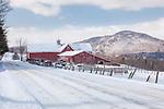 Northeast Kingdom farm country in Barnet, Vermont, USA