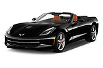 2018 Chevrolet Corvette Stingray Convertible 2LT 2 Door Convertible angular front stock photos of front three quarter view