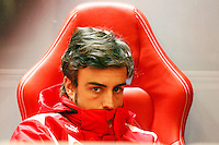 SPA FRANCORCHAMPS, BELGICA, 31 AGOSTO 2012  - F1 - GP DA BELGICA - O piloto espanhol Fernando Alonso da equipe Ferrari durante segundo dia de treinos livres para o GP da Belgica que acontece no proximo domingo. (FOTO: PIXATHLON / BRAZIL PHOTO PRESS).
