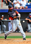 4 March 2011: Atlanta Braves outfielder Wilkin Ramirez in action during a Spring Training game against the Washington Nationals at Space Coast Stadium in Viera, Florida. The Braves defeated the Nationals 6-4 in Grapefruit League action. Mandatory Credit: Ed Wolfstein Photo
