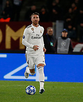 Sergio Ramos of Real Madrid  during the Champions League Group  soccer match between AS Roma - Real Madrid  at the Stadio Olimpico in Rome Italy 27 November 2018