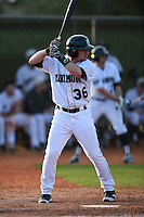 Dartmouth Big Green outfielder Hayden Rappoport (36) during a game against the Ball State Cardinals on March 7, 2015 at North Charlotte Regional Park in Port Charlotte, Florida.  Ball State defeated Dartmouth 7-4.  (Mike Janes/Four Seam Images)