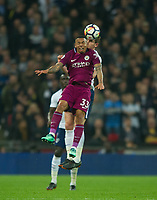 Manchester City Gabriel Jesus during the Premier League match between Tottenham Hotspur and Manchester City at Wembley Stadium, London, England on 14 April 2018. Photo by Andrew Aleksiejczuk / PRiME Media Images.