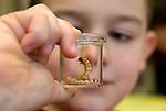 "WOODBURY CT. 30 December 2013-123013SV09-Henry Trombetto of Woodbury checks out the Mealworms during a program called ""How Cool is That?!"" at the library in Woodbury Monday. This class was called Mealworm Madness. Children discussed food and color preference, texture and length of mealworms while learning.<br /> Steven Valenti Republican-American"