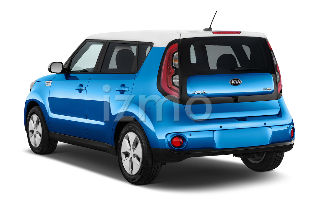 Car pictures of rear three quarter view of2015 KIA Soul EV Base 5 Door Wagon Angular Rear