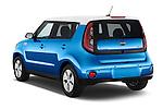Car pictures of rear three quarter view of2015 KIA Soul EV Base 5 Door Wagon Angular Rear