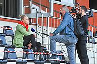 Ella Van Kerkhoven interviewed before a female soccer game between  AA Gent Ladies and Eendracht Aalst on the second matchday of the 2020 - 2021 season of Belgian Scooore Womens SuperLeague , friday 4 th of september 2020  in Oostakker , Belgium . PHOTO SPORTPIX.BE | SPP | STIJN AUDOOREN