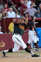 Designated hitter Nick Cieri (31) of the Maryland Terrapins in an NCAA Division I Baseball Regional Tournament game against the South Carolina Gamecocks on Sunday, June 1, 2014, at Carolina Stadium in Columbia, South Carolina. Maryland won, 10-1, to win the tournament. (Tom Priddy/Four Seam Images)