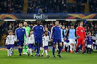 Cesar Azpilicueta leads out the Chelsea team during Chelsea vs Malmo FF, UEFA Europa League Football at Stamford Bridge on 21st February 2019