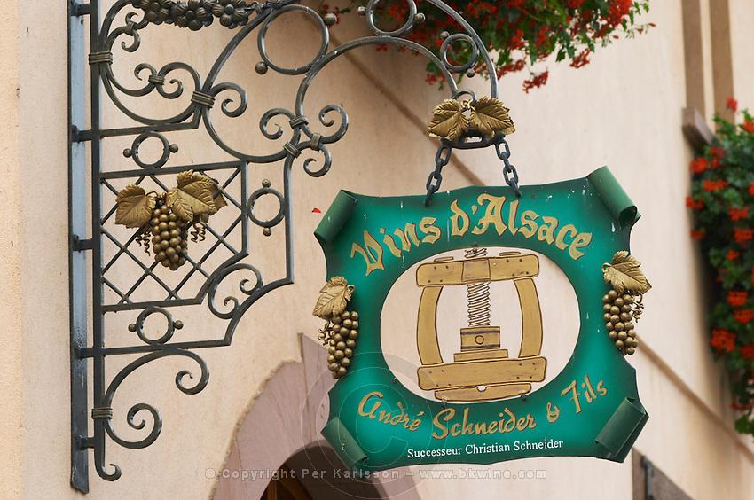 wrought iron sign andre schneider & fils eguisheim alsace france